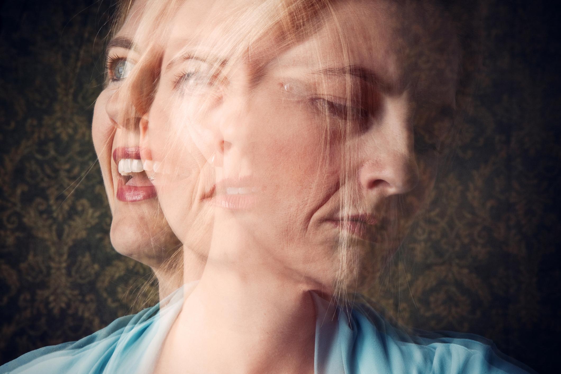 Woman Mood Disorder Concept